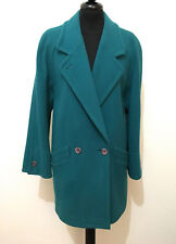 AQUASCUTUM Women's Coat Wool Double-breasted Wool Woman Coat Sz. L - 46