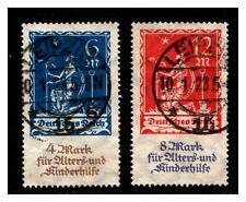Dt.Reich - Mi.-Nr. 233/34  gestempelt - geprüft Infla