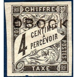 OBOCK TAXE No8 TIMBRE TYPE DUVAL AVEC CHARNIERE
