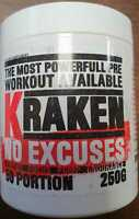 Sparta Nutrition Kraken Hardcore Booster 250g  US Version Sonderedition + Bonus