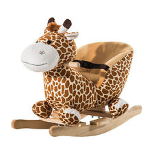 Qaba Baby Kids Toy Plush Rocking Horse Vintage Giraffe Chair Seat Rocker Toddler