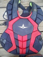 All Star System 7 Catchers Gear Adult Set 16+ navy and red