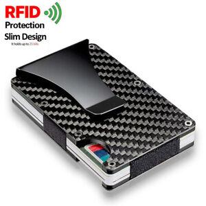 Men's Wallet RFID Blocking Slim Money Clip Credit ID Card Holder Thin Minimalist