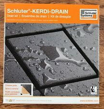 Schluter Kerdi Shower Drain Kit Tileable Grate PVC