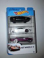 Neuf ! Hot wheels  MATTEL  Pack 3 voitures lot C