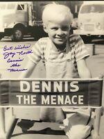 Signed JAY NORTH 11x14 DENNIS THE MENACE Autograph PSA Beckett Guarantee + Proof