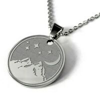 Engraved Necklace Pendant Personalized Name Gift Chain Stainless Night Women Men