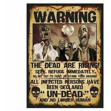2 x Walking Dead Zombie Warning Poster Halloween Decoration Prop
