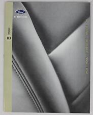 Ford 2003 Focus Taurus Windstar Crown Victoria ZX2 Sales Brochure / Literature