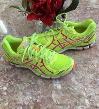 ASICS GT 2000 2  Running Shoes flash Yellow/Pink /Orange Fish Sz 81/2 T3P8N EUC