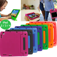 Kids Shock Proof Safe Foam Case Handle Cover Stand For Apple iPad 2 3 4