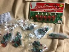 Vtg TG&Y Christmas Replacement Bulbs Push-in Lamps Red Color 3.5V / Fuses / Bulb
