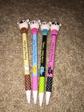 Lot Of 4 Cute Kawaii Fun Ball Point Pen Cartoon Rabbit Bunny Cat Bear US Seller