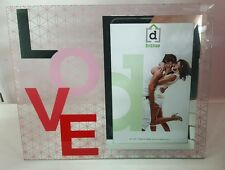 ' LOVE ' glass + mirror photo / picture frame NICE GIFT