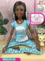 Barbie Doll Breathe With Me Guided Meditation Lights Up Sounds Yoga Brunette AA