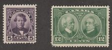 KAPPYSSTAMPS S904 CANADA MINT HINGED SCOTT# 146 147 CATALOG MH = $22