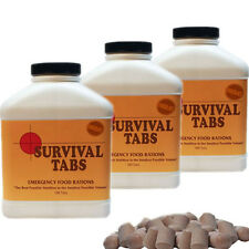 Chocolate 45 day Supply-Survival Tabs Emergency Food Rations Nutrition in Volume