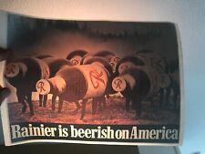 Vintage Rainier Beer Tshirt Heat Transfer, Rainier Is Beerish In America