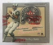 2000 Fleer Greats Of The Game Football Factory Sealed Hobby Box