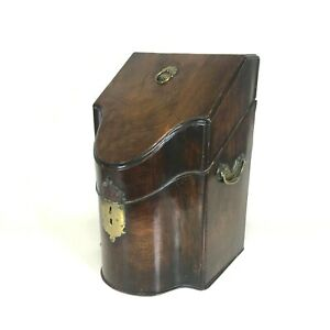 18th Century Georgian Mahogany Knife Box