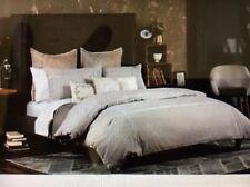 Beekman 1802 Richfield Soft Gray Textured Patchwork Duvet Cover, Queen, NIP