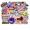 50Pcs  Racing Stickers Decals Motocross Motorcycles Car Vintage Decal Sticker
