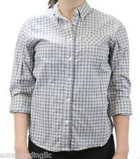STEVEN ALAN Blue Checkered Long Sleeve Single Needle Shirt WST35CT NWT $158