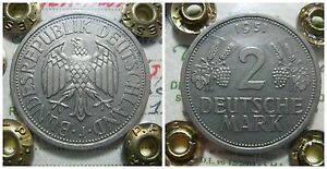GERMANIA GERMANIY 2 MARK GRAPES 1951 AMBURGO F REPUBLIC FEDERAL RARA UNC