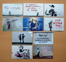 BANKSY ART PRINTS 10 POSTCARD SIZE PHOTO PRINTS REPRODUCTION FROM ORIGINALS
