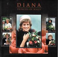 Gambia 2013 MNH Princess Diana Princess of Wales 4v M/S Flowers Royalty