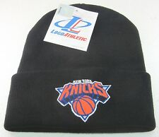 NBA New York Knicks Black One Size Fits All Cuffed Knit Hat By Logo Athletic