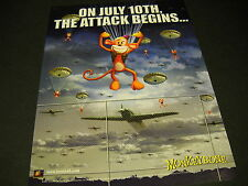 MONKEYBONE On July 10th The Attack Begins LARGE 2001 Promo Poster Ad mint cond
