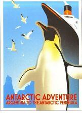 Années 1950 Cruise Argentine Antarctique Poster A2 réimpression
