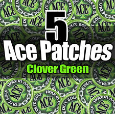 NEW (X5) Disc Golf Embroidered ACE PATCH Attach 2 bag - Clover Green Version