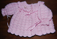 Laminated Baby Matinee Coat Crochet PATTERN DK - Gorgeous and Easy. UK