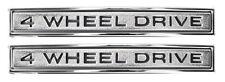 1968-1972 GMC Truck Front Fender Emblem 4 Wheel Drive Pair Blazer Suburban