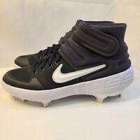 New Nike Alpha Huarache Elite 2 Mid Baseball Cleats AJ6874-001 Men's Size 8
