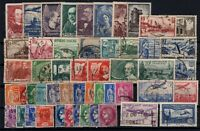Q139711/ FRANCE – YEARS 1929 - 1938 USED SEMI MODERN LOT – CV 130 $