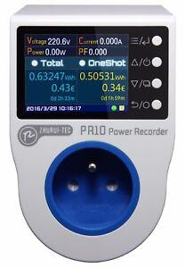French plug 16A metering socket energy /voltmeter/tester/ammeter/electric meter