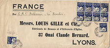 Stamps 1903 New South Wales 2&1/2d blue queen x 10 Louis Gille cover to France