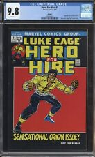 Hero for Hire #1 CGC 9.8 NM/Mint! White Pages! Luke Cage! 2006 Reprint G2 211 cm