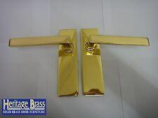 Heritage Brass DELTA LEVA SERRATURA MANIGLIE OTTONE LUCIDO-NUOVO