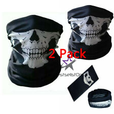2 PCS Mouth Cover Face Mask Motorcycle Balaclava Neck Skull