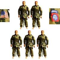 "Lot 5 set Airborne 21ST CENTURY uniform For 12"" DRAGON GI JOE 1/6 Action figure"