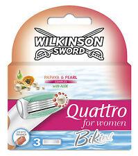 Wilkinson Sword Quattro pour Femmes Bikini lames - Pack de 3