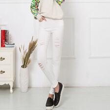 New Sexy Womens Stretch Ripped Skinny Slim Denim Jeans Leggings Trousers
