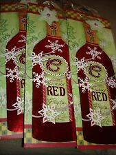 CHRISTMAS WINE BAGS LOT OF 4