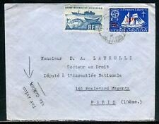 """Saint Pierre et Miquelon - Enveloppe par avion """" Via Gander """" pour Paris - D 162"""