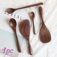 Soup Wooden Coffee Spoons Black Walnut Rice Shovel Spoon Honey Tea Scoops