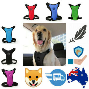Dog Car Safety Harness Restraint Seat Belt Lead pink blue red FREE TIPS SHEET AU